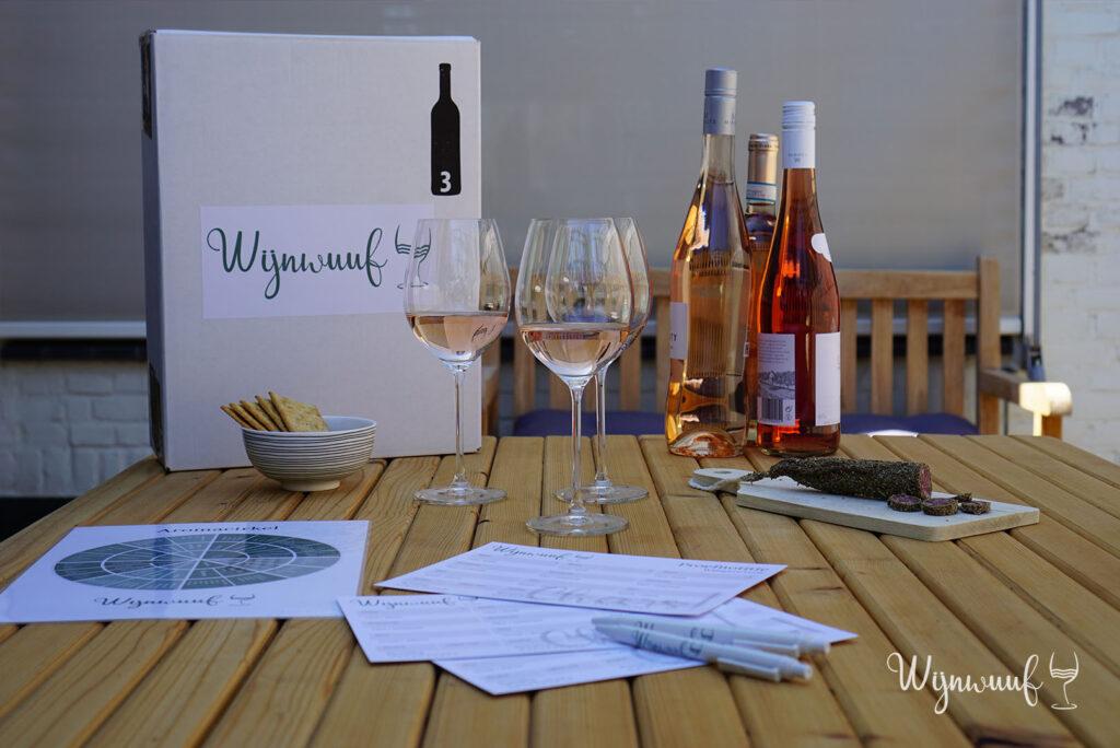 wijnproeverij pakket rose proeven