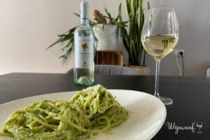deze wijn bij pasta pesto